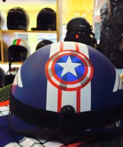 mũ bảo hiểm nửa đầu captain america