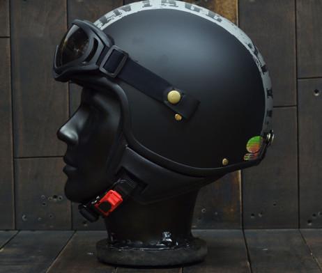 Mũ bảo hiểm 3/4 andes Vintage đen