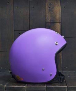 Mũ bảo hiểm andes 3/4 tím nhám