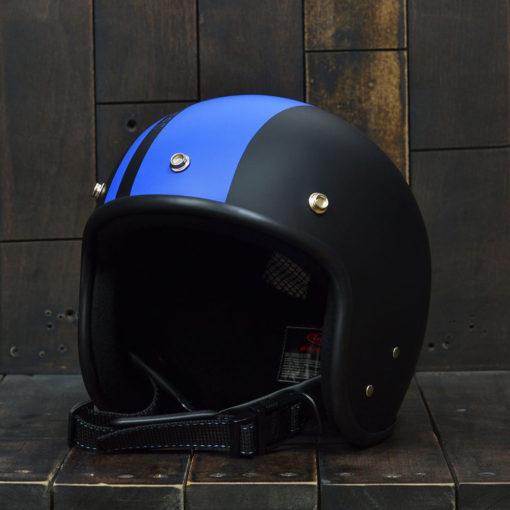 Mũ bảo hiểm andes 3/4 sọc xanh da trời