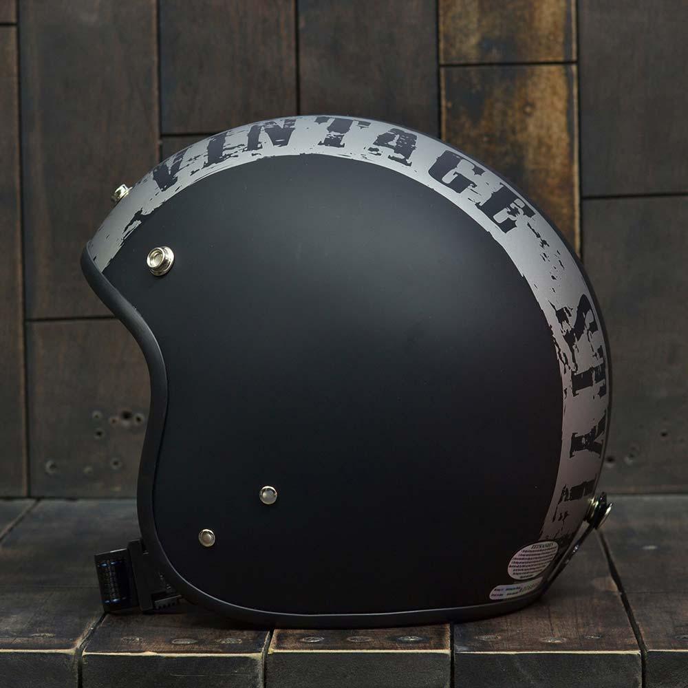 Mũ bảo hiểm Andes 3/4 vintage đen