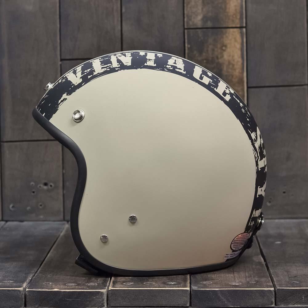 Mũ bảo hiểm Andes 3/4 vintage trắng