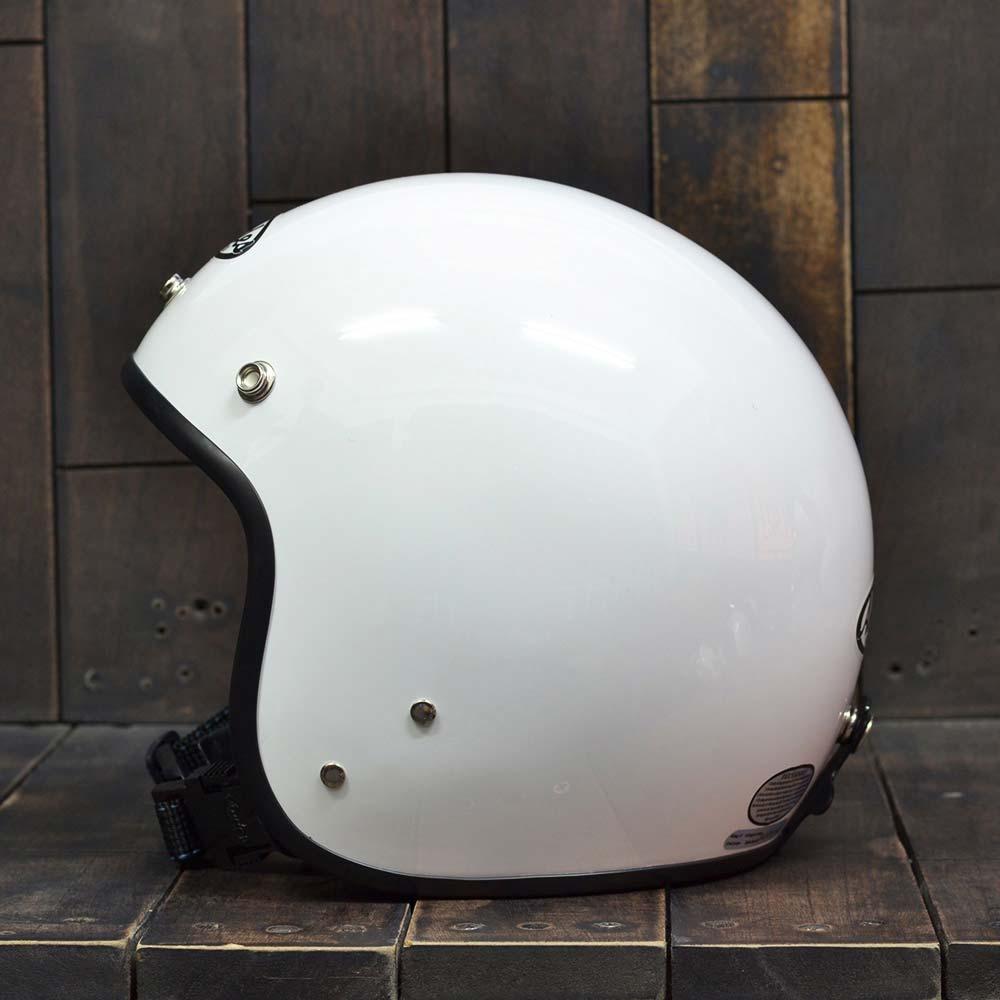 Mũ bảo hiểm andes 3/4 trắng bóng