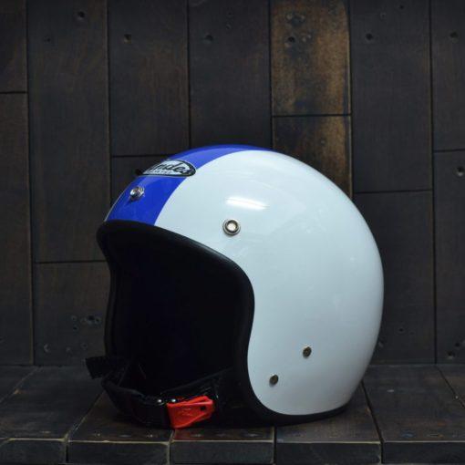 Mũ bảo hiểm 3/4 andes trắng sọc xanh dương