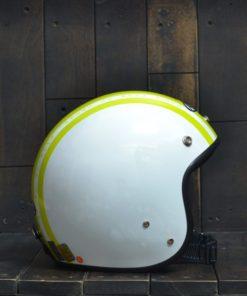 Mũ bảo hiểm 3/4 andes sọc vàng