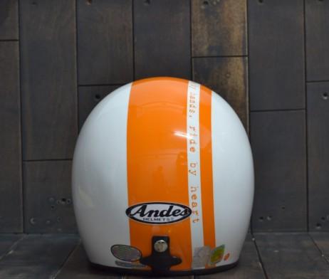 Mũ bảo hiểm andes 3/4 sọc cam