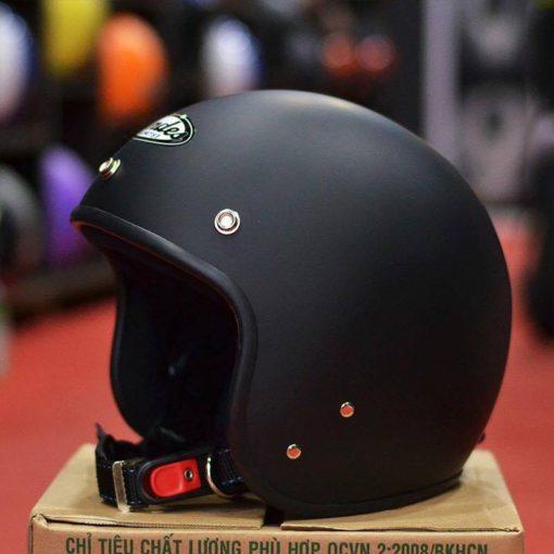 Mũ bảo hiểm ANDES đen nhám giá rẻ