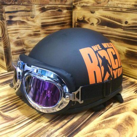 Mũ bảo hiểm nửa đầu sơn 3D ROCK