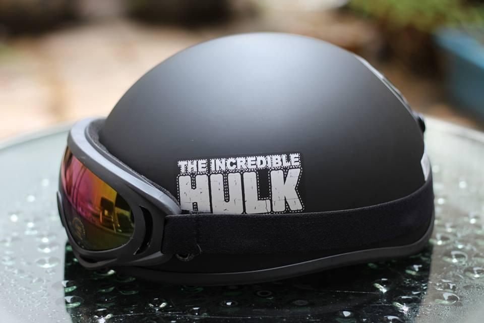 Phụ kiện phượt Mũ bảo hiểm nửa đầu có kính thời trang giá rẻ