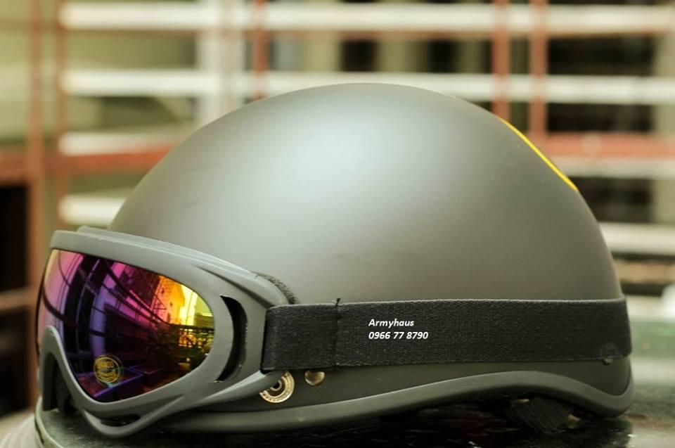 Mũ bảo hiểm nửa đầu có kính giá rẻ thời trang dành cho nam