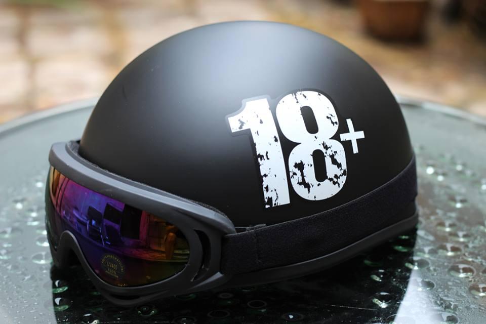 Mũ bảo hiểm nửa đầu có kính đẹp giá rẻ